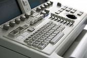 ultrasound medical device keyboard with focus on centre
