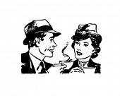 Coffee Time Chat - Retro Clip Art