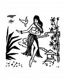 stock photo of hula dancer  - Hula Dancer  - JPG