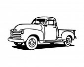 Pickup Truck - Retro Clip Art