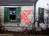 picture of katrina  - Hurricane Katrina search rescue markings aftermath destruction distaster - JPG
