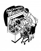 image of grocery-shopping  - Woman Shopper At Meats  - JPG