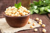 Cooked Chickpeas On A Bowl. Chickpeas Is Nutritious Food. Healthy And Vegetarian Food poster
