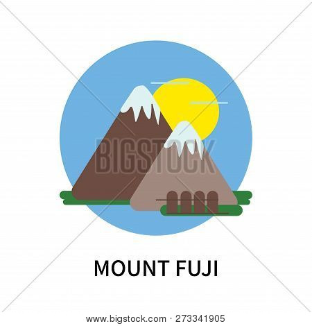 Mount Fuji Icon Isolated On