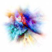 Unfolding Of Color Splash Explosion poster