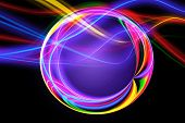 Abstract Artistic Multicolored Energized Loops Circles Artwork poster