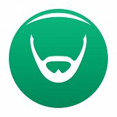 Beard And Whiskers Icon. Simple Illustration Of Beard And Whiskers Vector Icon For Any Design Green poster