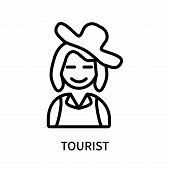 Tourist Icon Isolated On White Background. Tourist Icon Simple Sign. Tourist Icon Trendy And Modern  poster