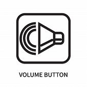 Volume Button Icon Isolated On White Background. Volume Button Icon Simple Sign. Volume Button Icon  poster