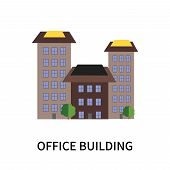Office Building Icon Isolated On White Background. Office Building Icon Simple Sign. Office Building poster