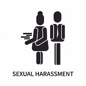 Sexual Harassment Icon Isolated On White Background. Sexual Harassment Icon Simple Sign. Sexual Hara poster