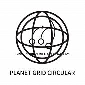 Planet Grid Circular Icon Isolated On White Background. Planet Grid Circular Icon Simple Sign. Plane poster