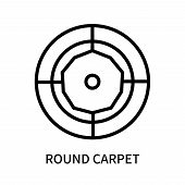 Round Carpet Icon Isolated On White Background. Round Carpet Icon Simple Sign. Round Carpet Icon Tre poster
