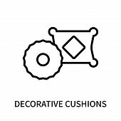 Decorative Cushions Icon Isolated On White Background. Decorative Cushions Icon Simple Sign. Decorat poster