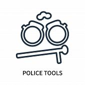 Police Tools Icon Isolated On White Background. Police Tools Icon Simple Sign. Police Tools Icon Tre poster