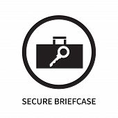 Secure Briefcase Icon Isolated On White Background. Secure Briefcase Icon Simple Sign. Secure Briefc poster