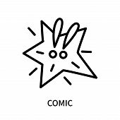 Comic Icon Isolated On White Background. Comic Icon Simple Sign. Comic Icon Trendy And Modern Symbol poster