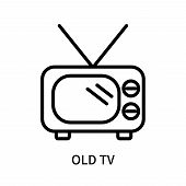 Old Tv Icon Isolated On White Background. Old Tv Icon Simple Sign. Old Tv Icon Trendy And Modern Sym poster