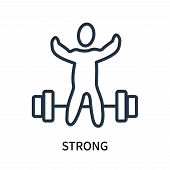 Strong Icon Isolated On White Background. Strong Icon Simple Sign. Strong Icon Trendy And Modern Sym poster