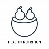 Healthy Nutrition Icon Isolated On White Background. Healthy Nutrition Icon Simple Sign. Healthy Nut poster