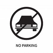 No Parking Icon Isolated On White Background. No Parking Icon Simple Sign. No Parking Icon Trendy An poster