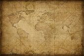 retro styled world map poster