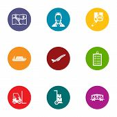 Movement Icons Set. Flat Set Of 9 Movement Icons For Web Isolated On White Background poster