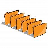 Set Folder For Files Icon. Vector Illustration Folder For Documents. Hand Drawn Set Folder With File poster