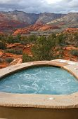 Colorful Outdoor Jacuzzi In Southern Utah