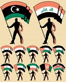 picture of north sudan  - Flag bearer in 12 versions, differing by the flag.