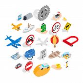 Movement Icons Set. Isometric Set Of 25 Movement Vector Icons For Web Isolated On White Background poster