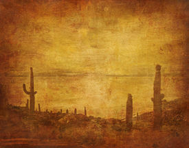 picture of wild west  - image of grunge background with wild west landscape - JPG