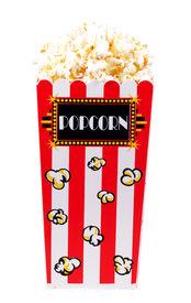 stock photo of matinee  - isolated popcorn bucket  - JPG