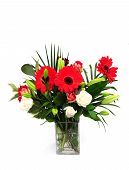foto of flower arrangement  - a beautiful flower arrangement in a vase - JPG