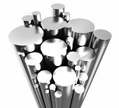stock photo of stelles  - Stell Pipes on white background  - JPG