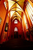 picture of pews  - The interior pews of a german church - JPG