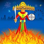 pic of ravan  - illustration of Raavan Dahan for Dusshera celebration - JPG