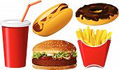 picture of hot dogs  - Fast food icon set on the white background - JPG