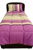 stock photo of lilas  - Comfortable looking pillows and bed - JPG