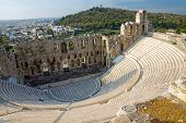 pic of akropolis  - Ancient theatre in at the Acropolis in Athens - JPG