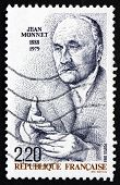 Postage Stamp France 1988 Jean Monnet, Honorary Citizen Of Europe