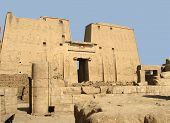 picture of ptolemaic  - The Temple of Horus at Edfu Egypt - JPG