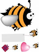 image of bumble bee  - Detailed vector file fully editable and scaleable to any size can be easily recoloured - JPG