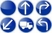 pic of reboot  - set of blue traffic sign - JPG