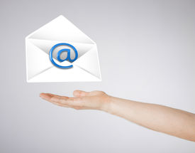 foto of nem  - picture of hand holding envelope with email sign - JPG