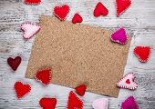 picture of heartfelt  - Cork board with handmade felt hearts - JPG
