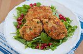 pic of veggie burger  - Delicious vegan veggie burger patty with quinoa - JPG