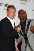 Dolph Lundgren and Terry Crews at the