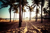 foto of carnival brazil  - View of Ipanema Beach in the evening Brazil - JPG
