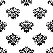 Foliate arabesque pattern for damask